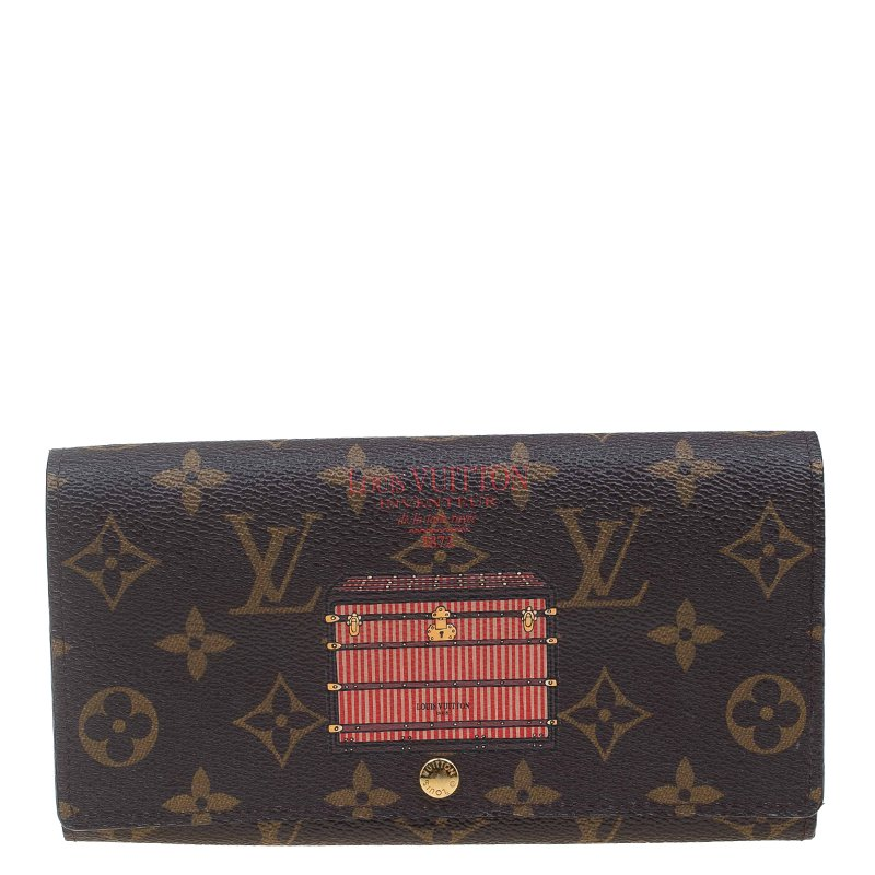 677e2e52a5e Louis Vuitton Limited Edition Monogram Canvas Inventeur Trunks & Lock Sarah  Wallet