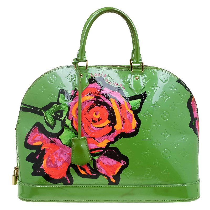 0461b2dfd2fc ... Louis Vuitton Green Monogram Vernis Limited Edition Stephen Sprouse  Roses Alma GM Bag. nextprev. prevnext
