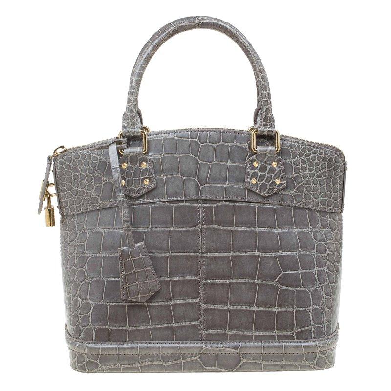 cb1b77129673 Louis vuitton grey crocodile limited edition lockit bag nextprev prevnext  jpg 800x800 Crocodile leather handbags louis