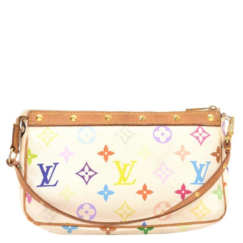 ce7d7c109640 ... Louis Vuitton White Monogram Multicolore Pochette Accessoires.  nextprev. prevnext