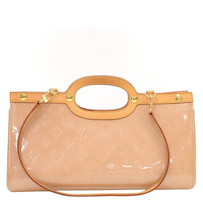 Louis Vuitton Noisette Monogram Vernis Roxbury Drive Bag
