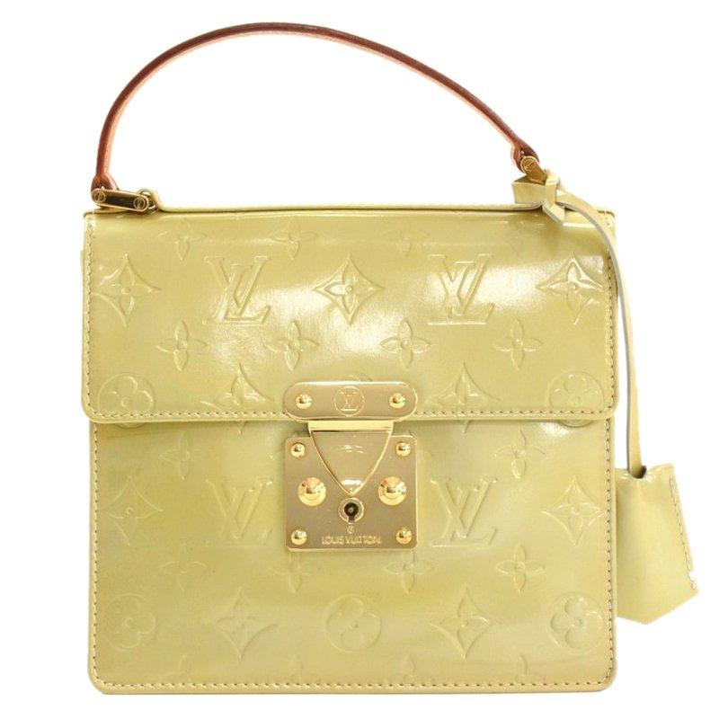 f625f2235a8ac ... Louis Vuitton Citrine Monogram Vernis Spring Street Bag. nextprev.  prevnext