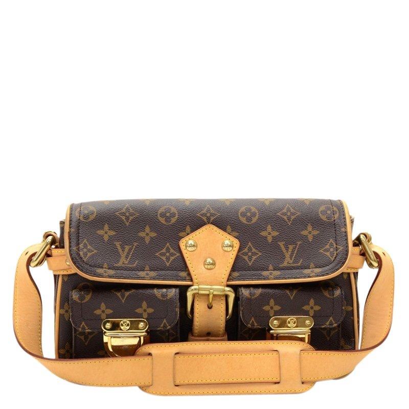 b65f86b81f1 Buy Louis Vuitton Monogram Canvas Hudson PM Bag 68495 at best price ...