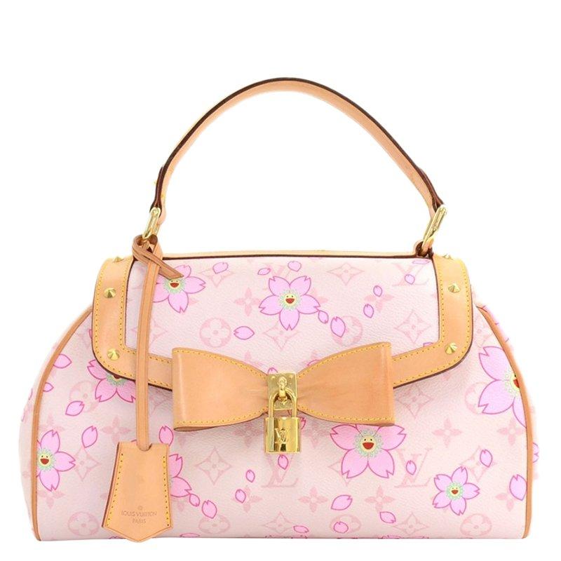 e38f0796fb91 ... Louis Vuitton Limited Edition Pink rouge cherry blossom Sac Retro  Satchel. nextprev. prevnext