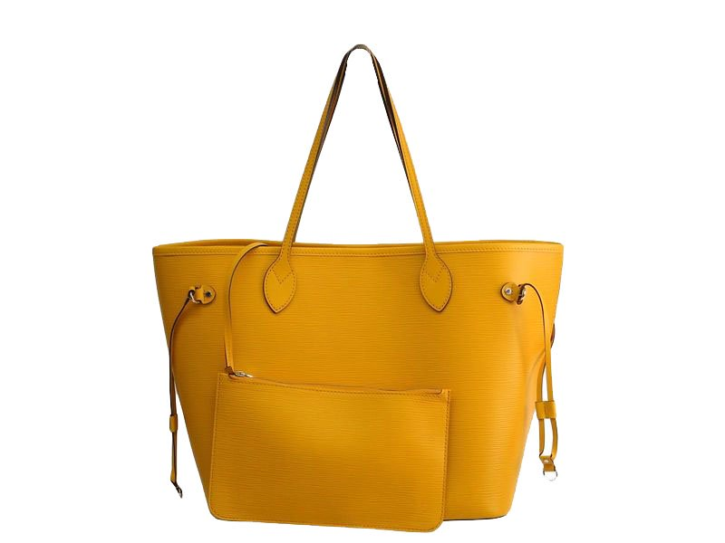 a82199241 Buy Louis Vuitton Yellow Epi Leather Neverfull MM Tote Bag 73226 at ...