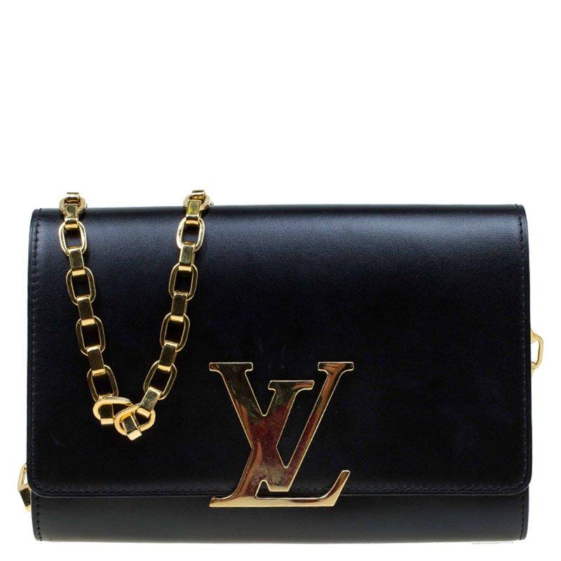 3552b295ab5f ... Louis Vuitton Black Leather Chain Louise GM Bag. nextprev. prevnext