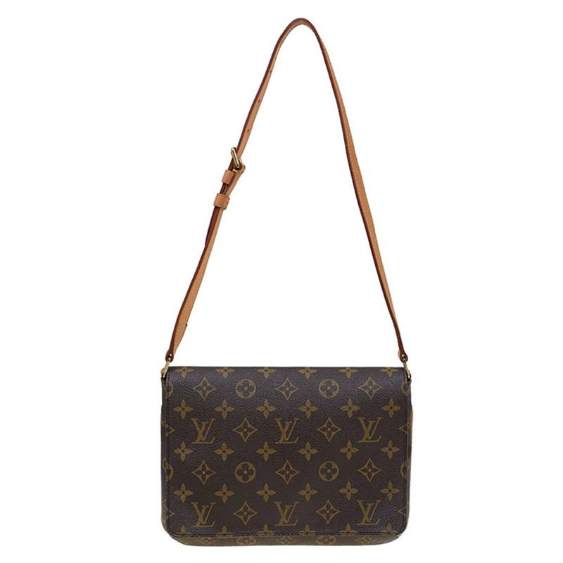 5591c57d445 Buy Louis Vuitton Monogram Canvas Musette Tango Long Strap Bag 77191 ...