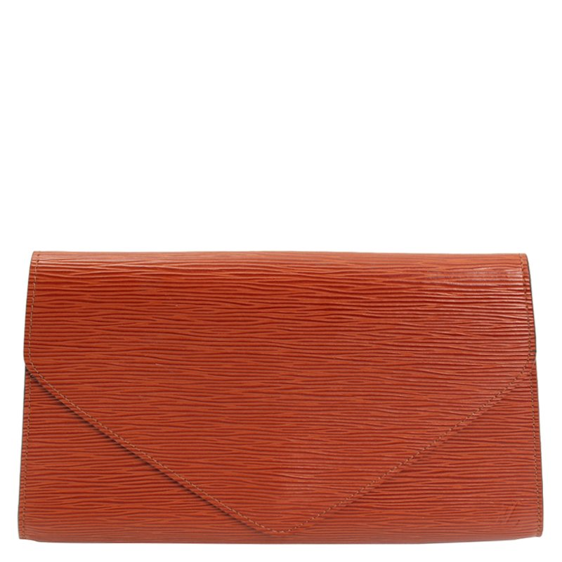 24b7b70e35059 ... Louis Vuitton Brown Epi Leather Art Deco Clutch. nextprev. prevnext