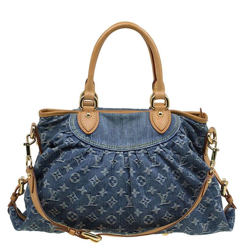 4629ffdff01 ... Louis Vuitton Blue Monogram Denim Neo Cabby MM Bag. nextprev. prevnext