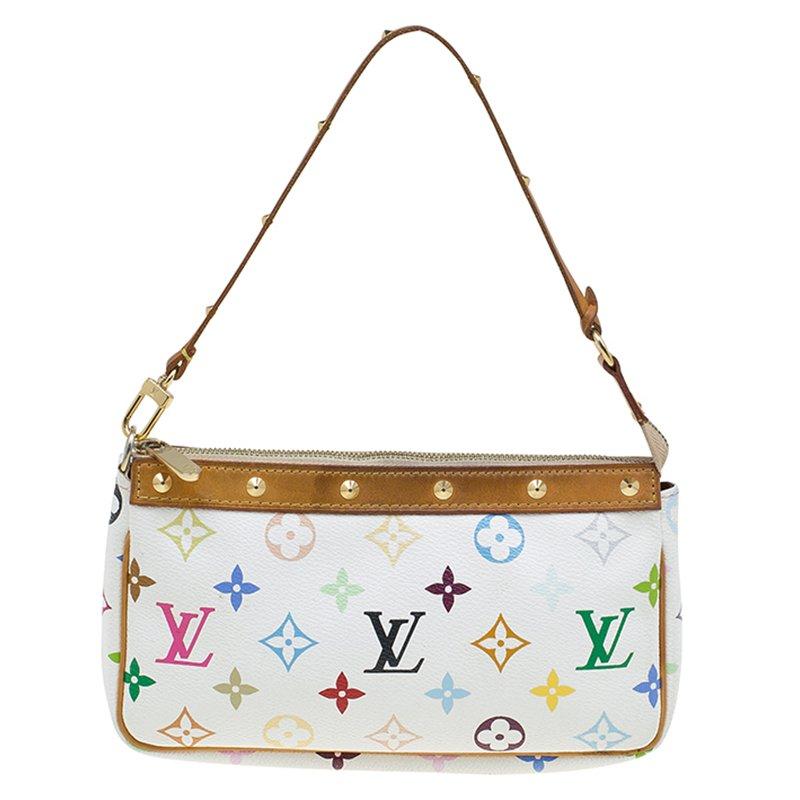 988ca5940d5f ... Louis Vuitton White Multicolor Monogram Canvas Pochette Accessoires.  nextprev. prevnext