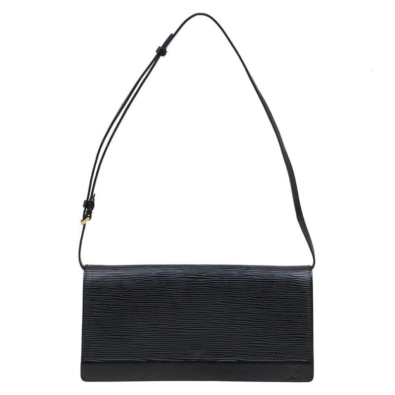 a486ca3ac3a Louis Vuitton Black Epi Leather Honfleur Clutch