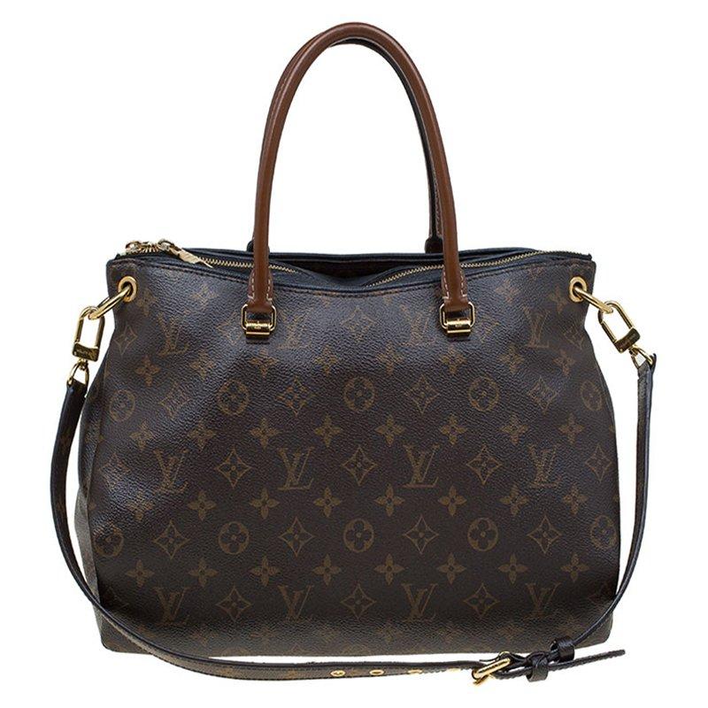 3c9026bae17 Louis Vuitton Black Monogram Canvas Pallas Bag