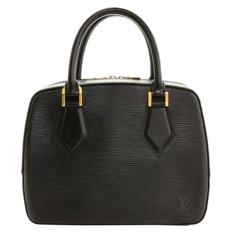 a4497e5821b Louis Vuitton Black Epi Leather Sablon Bag