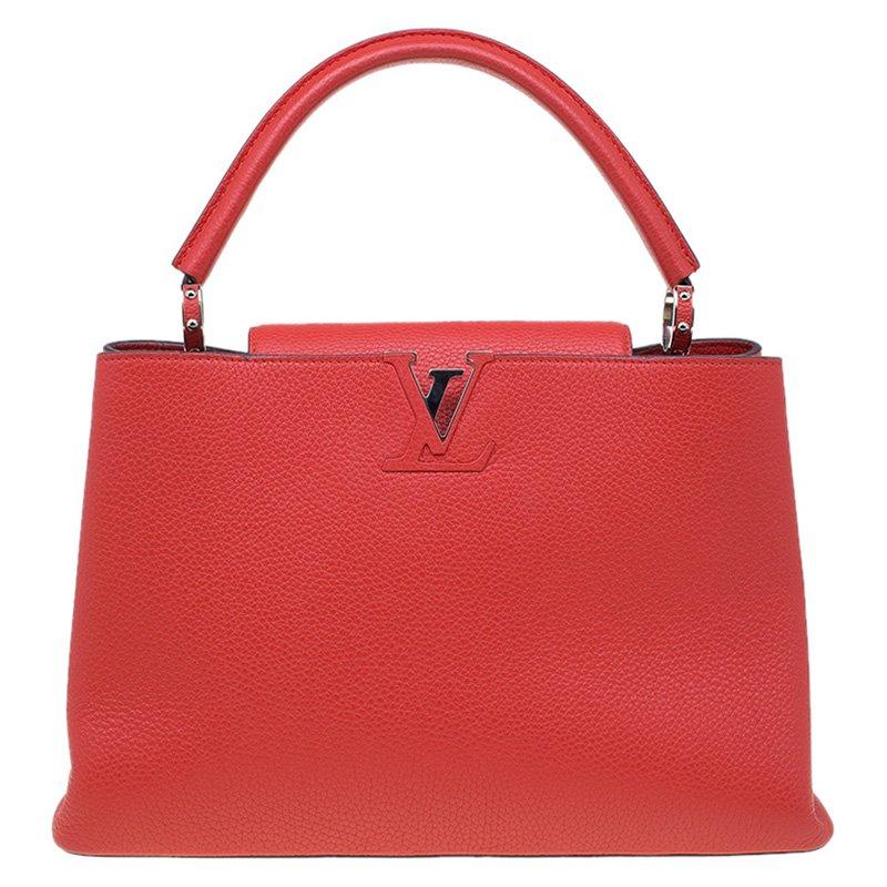 1654a686894e ... Louis Vuitton Red Taurillon Leather Capucines MM Bag. nextprev. prevnext