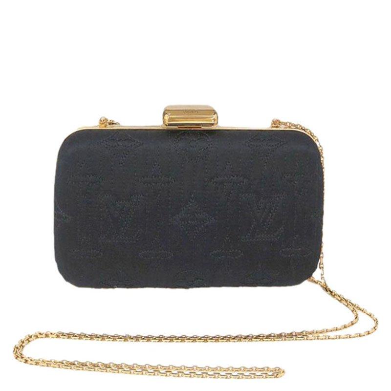 31c7436ee31d ... Louis Vuitton Noir Monogram Minaudiere Limited Edition Motard Clutch Bag.  nextprev. prevnext
