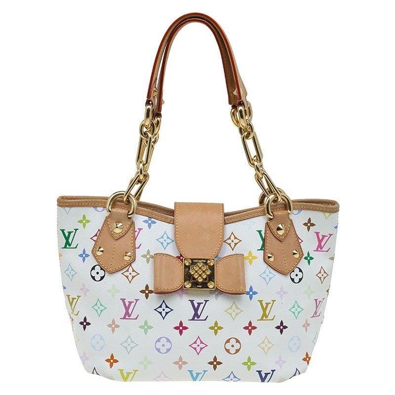 d9c3754dea ... Louis Vuitton White Multicolor Monogram Canvas Annie MM Bag. nextprev.  prevnext