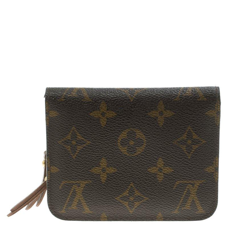 673811d391 Louis Vuitton Monogram Canvas Fleuri Insolite Compact Wallet