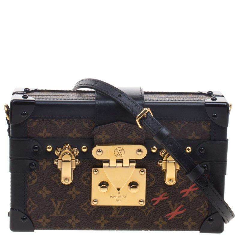 fe59eb74313b ... Louis Vuitton Black Monogram Canvas Petite Malle Bag. nextprev. prevnext