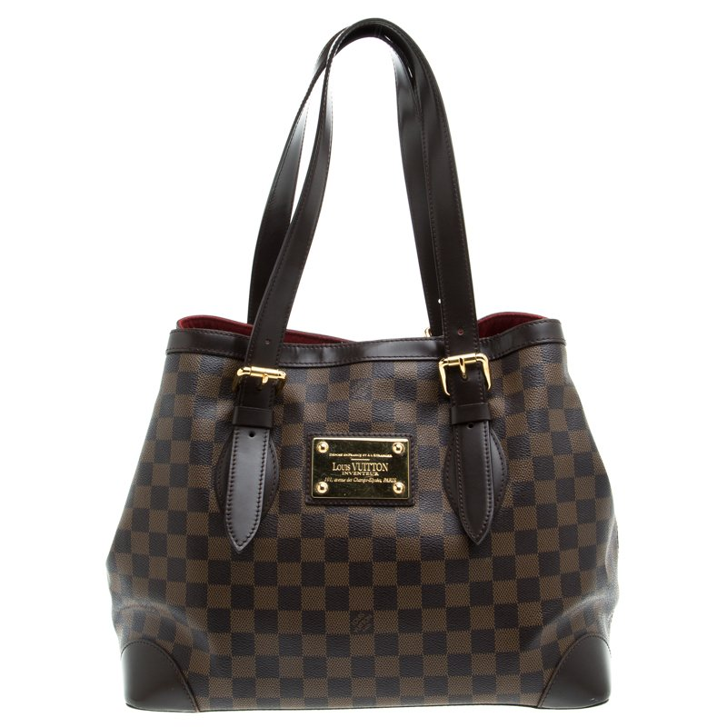 8ace979fc13c Buy Louis Vuitton Damier Ebene Canvas Hampstead MM Bag 94322 at best ...