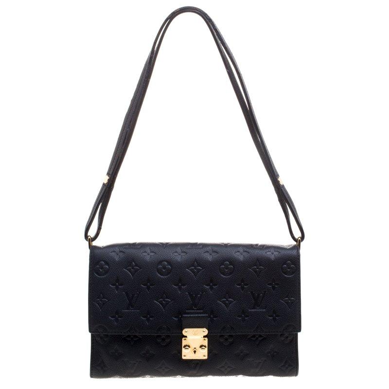 f4810b652b70 ... Louis Vuitton Black Monogram Empreinte Leather Fascinante Shoulder Bag.  nextprev. prevnext