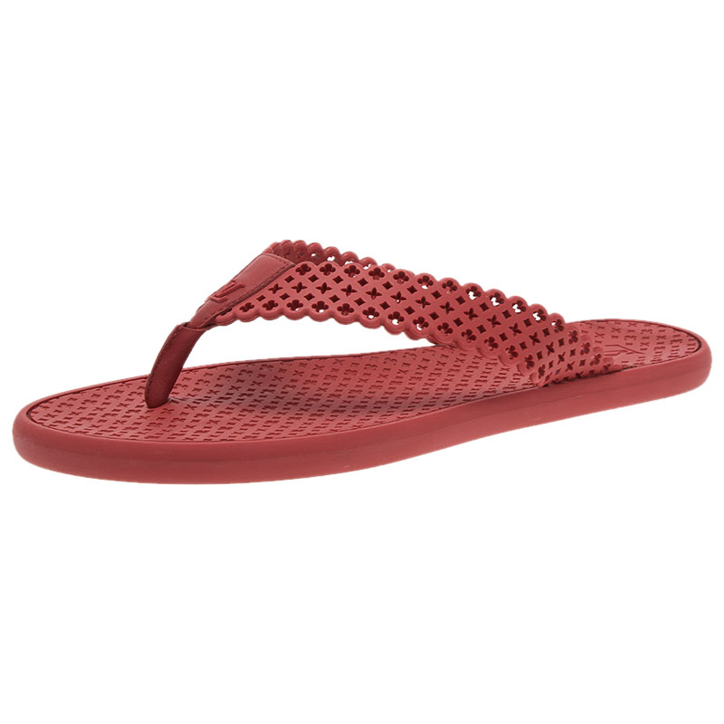7662e6d52 Buy Louis Vuitton Red Rubber Tatoo Thong Sandals Size 39 45860 at ...