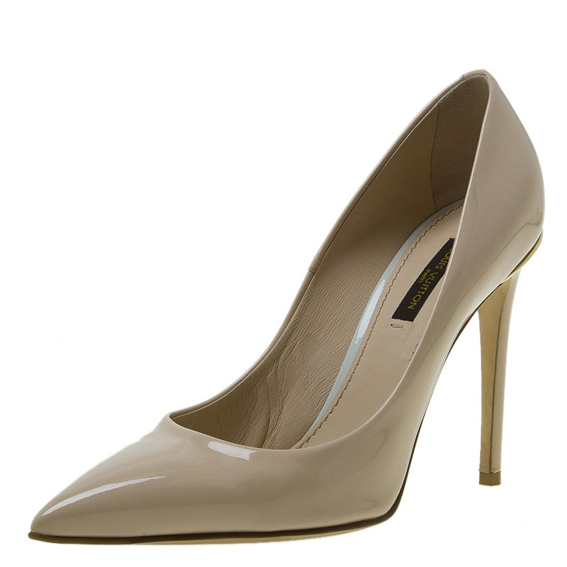 981f5cb398a2 ... Louis Vuitton Nude Leather Eyeline Pointed Toe Pumps Size 37. nextprev.  prevnext