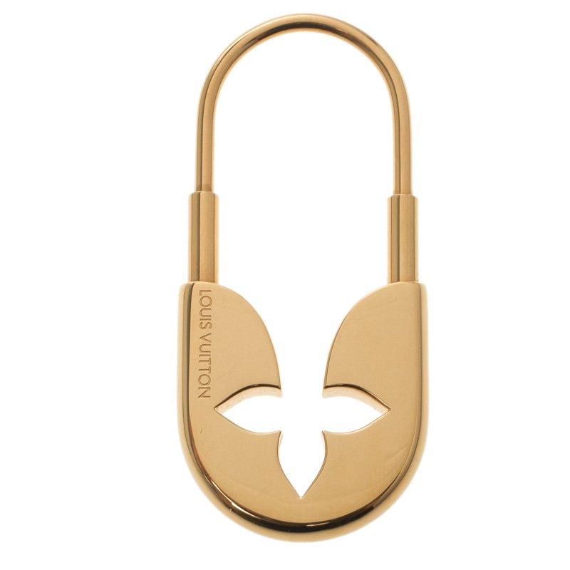 65aec6d5182f ... Louis Vuitton Safety Pin Gold Tone Key Holder   Bag Charm. nextprev.  prevnext