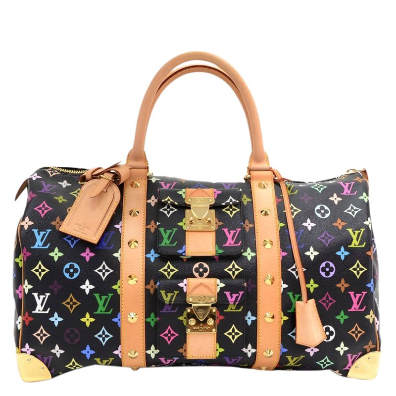 61d723a35c4e ... Louis Vuitton Black Monogram Multicolor Canvas Keepall 45. nextprev.  prevnext