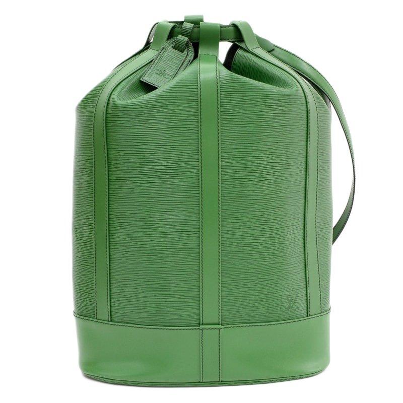 6f3e2d31e2ac ... Louis Vuitton Borneo Green Epi Leather Randonnee Backpack GM. nextprev.  prevnext