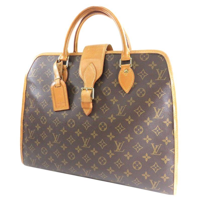 2482acd01 Buy Louis Vuitton Monogram Canvas Rivoli Soft Briefcase 57801 at ...