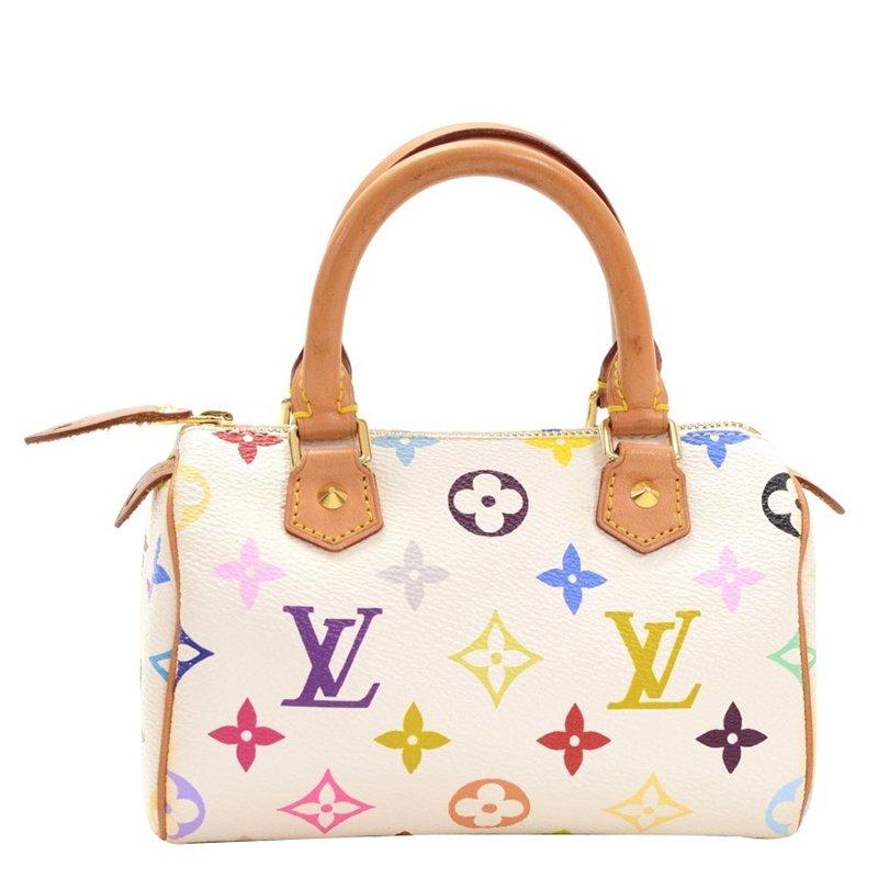 6eabcc19ba42 Louis Vuitton White Monogram Multicolore Mini Hl Bag 64340 At