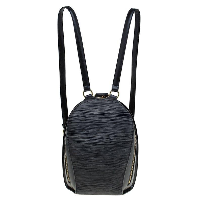 6700d8ab3cd2 Buy Louis Vuitton Black Epi Leather Mabillon Backpack Bag 82903 at ...