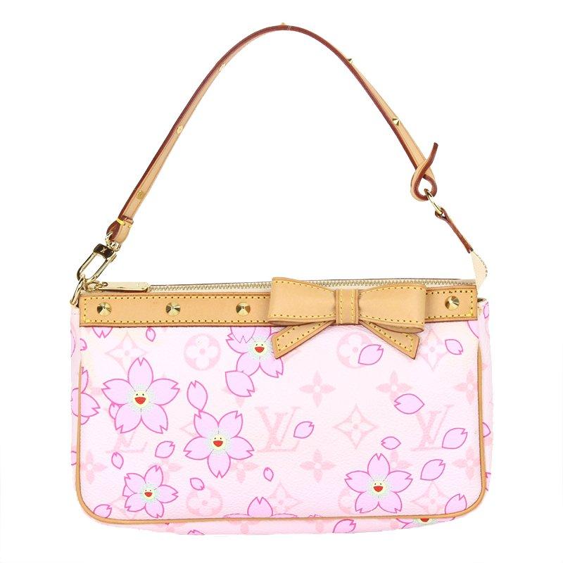 54a2f95b3611 ... Louis Vuitton Pink Monogram Canvas Limited Edition Cherry Blossom  Pochette Accessoires. nextprev. prevnext