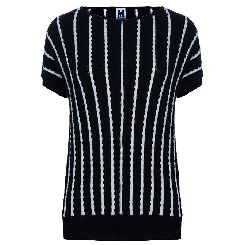 M Missoni Monochrome Knit Top S