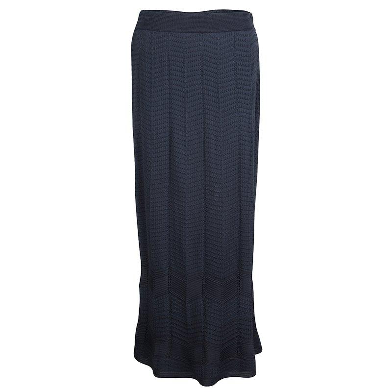 ede9fb8198 Buy M Missoni Grey Knit Maxi Skirt S 66645 at best price | TLC