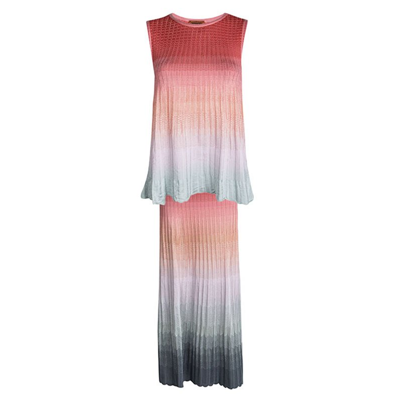 29a05759b ... M Missoni Multicolor Ombre Knit Sleeveless Top and Maxi Skirt Set S.  nextprev. prevnext
