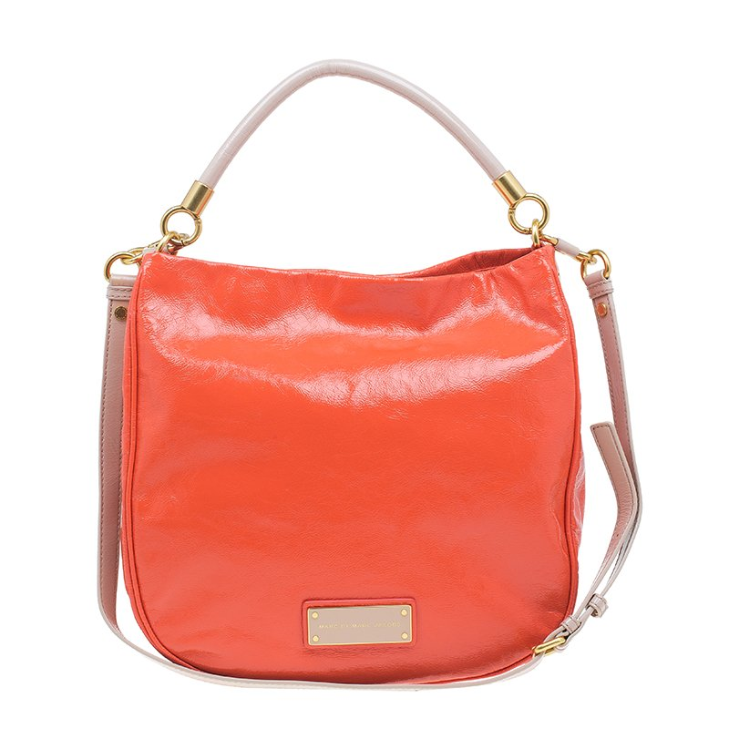 816fe3d34f79 Buy Marc by Marc Jacobs Orange Patent Leather Too Hot To Handle Hobo ...