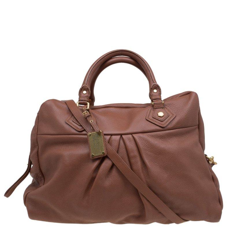846f529d8c4c ... Weekender Bag Nextprev Prevnext. Marc By Jacobs Brown Leather Clic Q  Delancey Weekender