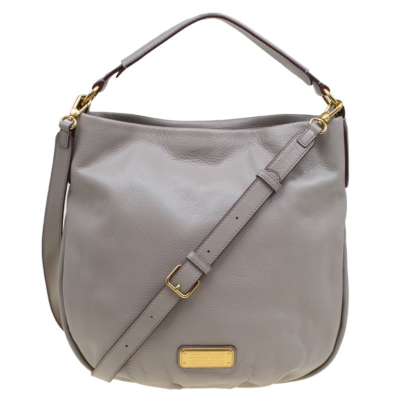b2fd0522a65a Buy Marc by Marc Jacobs Grey Leather New Q Hillier Hobo 81325 at ...