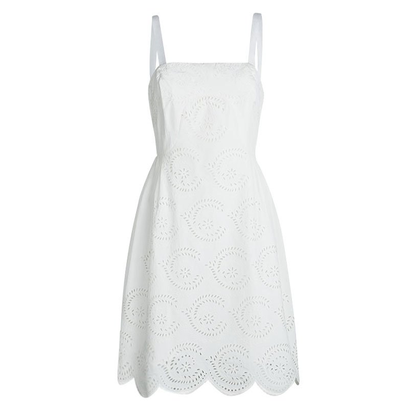 cb7e65aacb2d7 Buy Marc by Marc Jacobs White Eyelet Lace Sleeveless Dress M 95851 ...