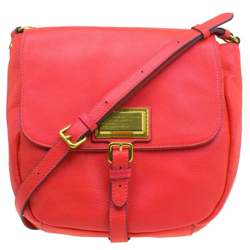 Marc by Marc Jacobs Pink Leather Chain Reaction Calley Crossbody Bag