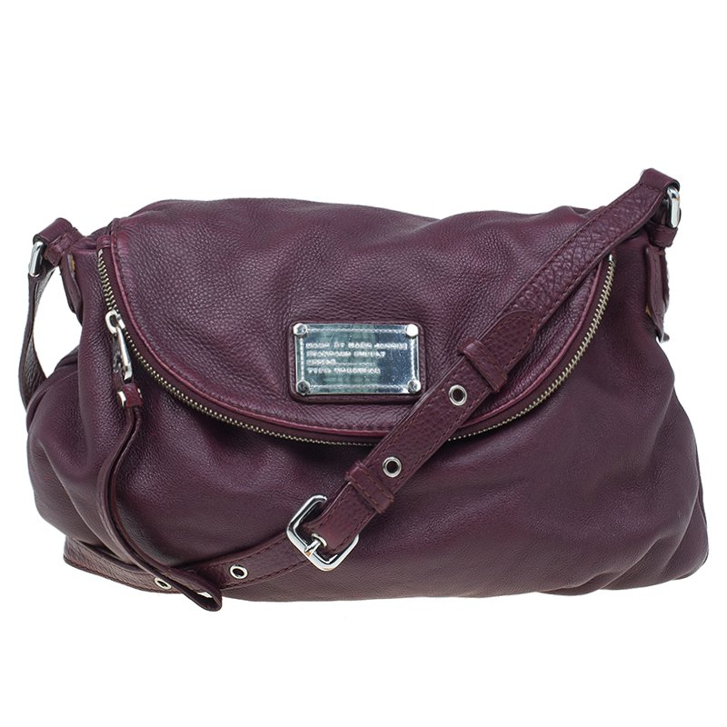e57d898c193d ... Marc Jacobs Burgundy Leather Classic Q Natasha Crossbody Bag. nextprev.  prevnext