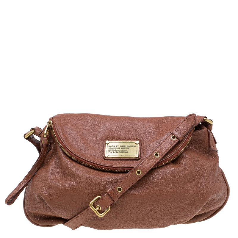 Marc By Jacobs Brown Leather Classic Q Natasha Crossbody Bag