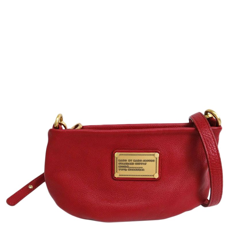 3d966b8e68 ... Marc Jacobs Red Leather Classic Q Percy Crossbody Bag. nextprev.  prevnext