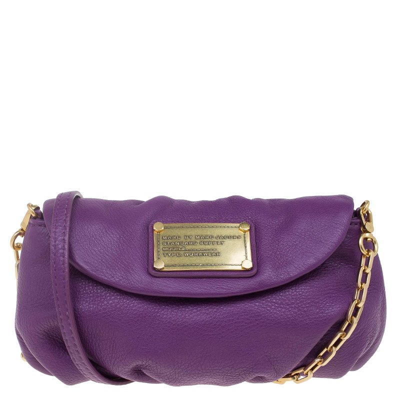 151e2f7328 ... Marc Jacobs Purple Leather Classic Q Karlie Crossbody Bag. nextprev.  prevnext