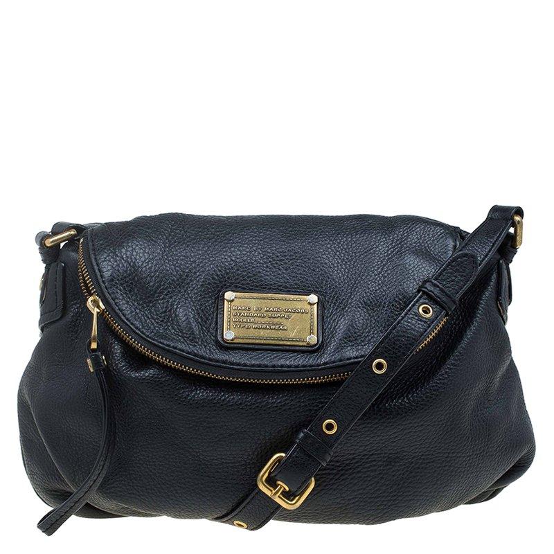Marc By Jacobs Black Leather Classic Q Natasha Crossbody Bag