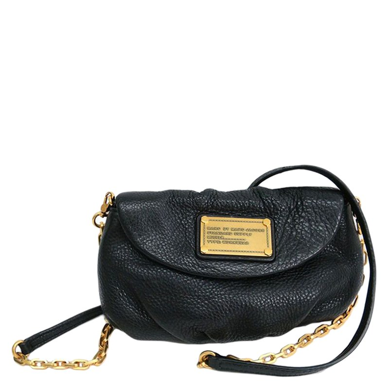 cfaee5603aa ... Marc Jacobs Black Leather Classic Q Karlie Crossbody Flap Bag.  nextprev. prevnext