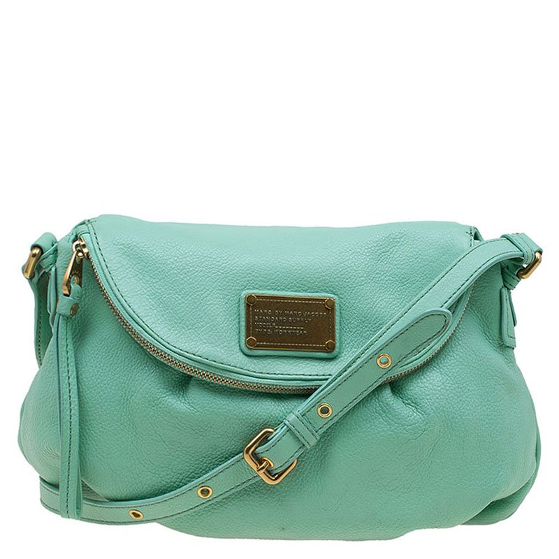 8812a843ecb9 ... Marc Jacobs Spring Green Leather Classic Q Natasha Crossbody Bag.  nextprev. prevnext