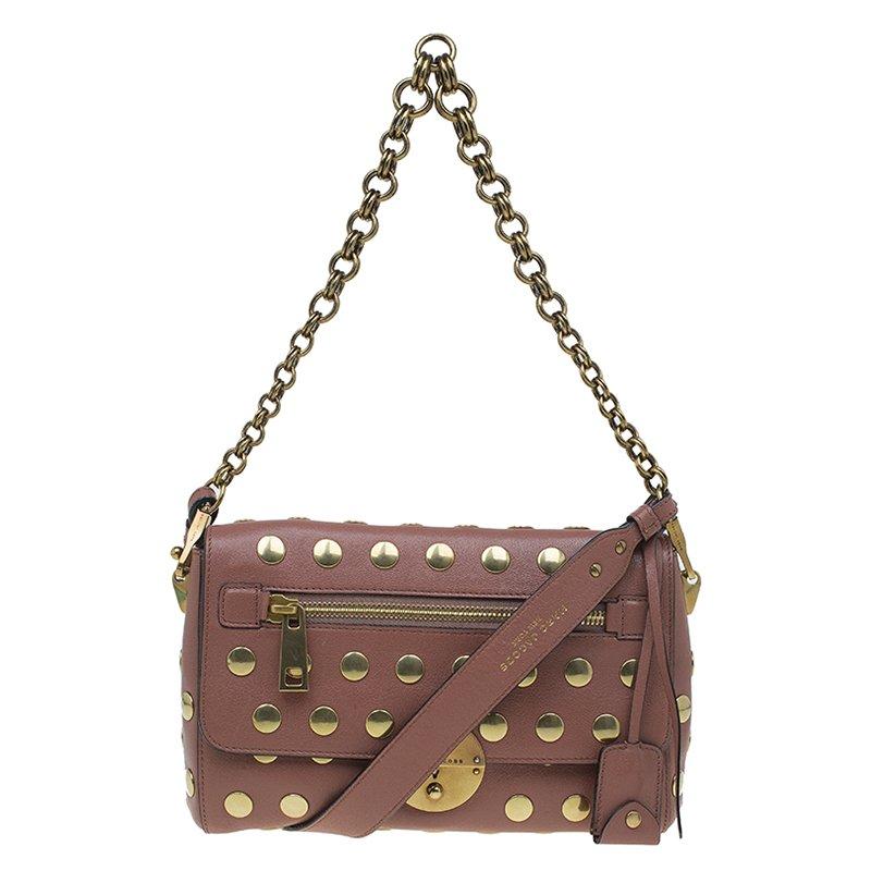 9dd4cfabf15a0 ... Marc Jacobs Vintage Rose Leather Small Studded Gotham Shoulder Bag.  nextprev. prevnext