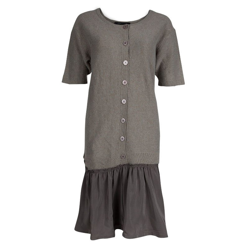 68783c3db30 Buy Marc Jacobs Grey Short Sleeve Sweater Dress M 77530 at best ...